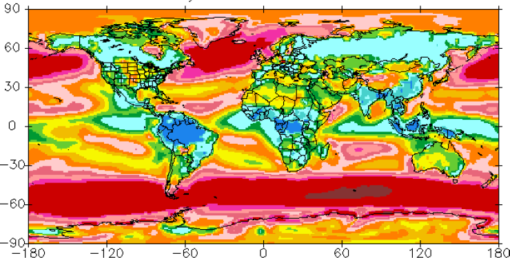 Thermal Map Of The World.World Climate Maps