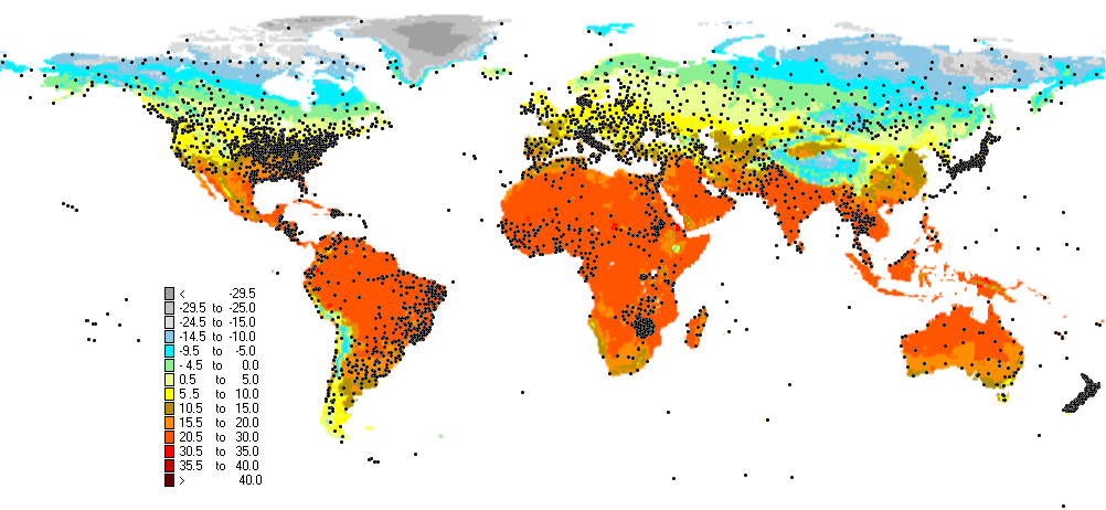 World Climate Index Map