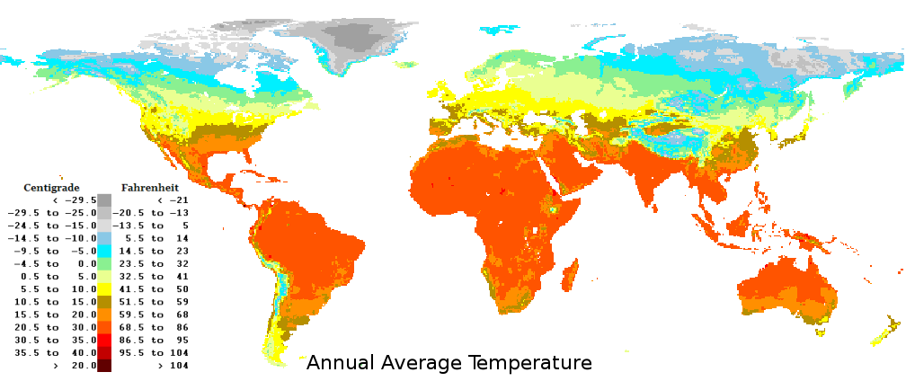 world temperature map